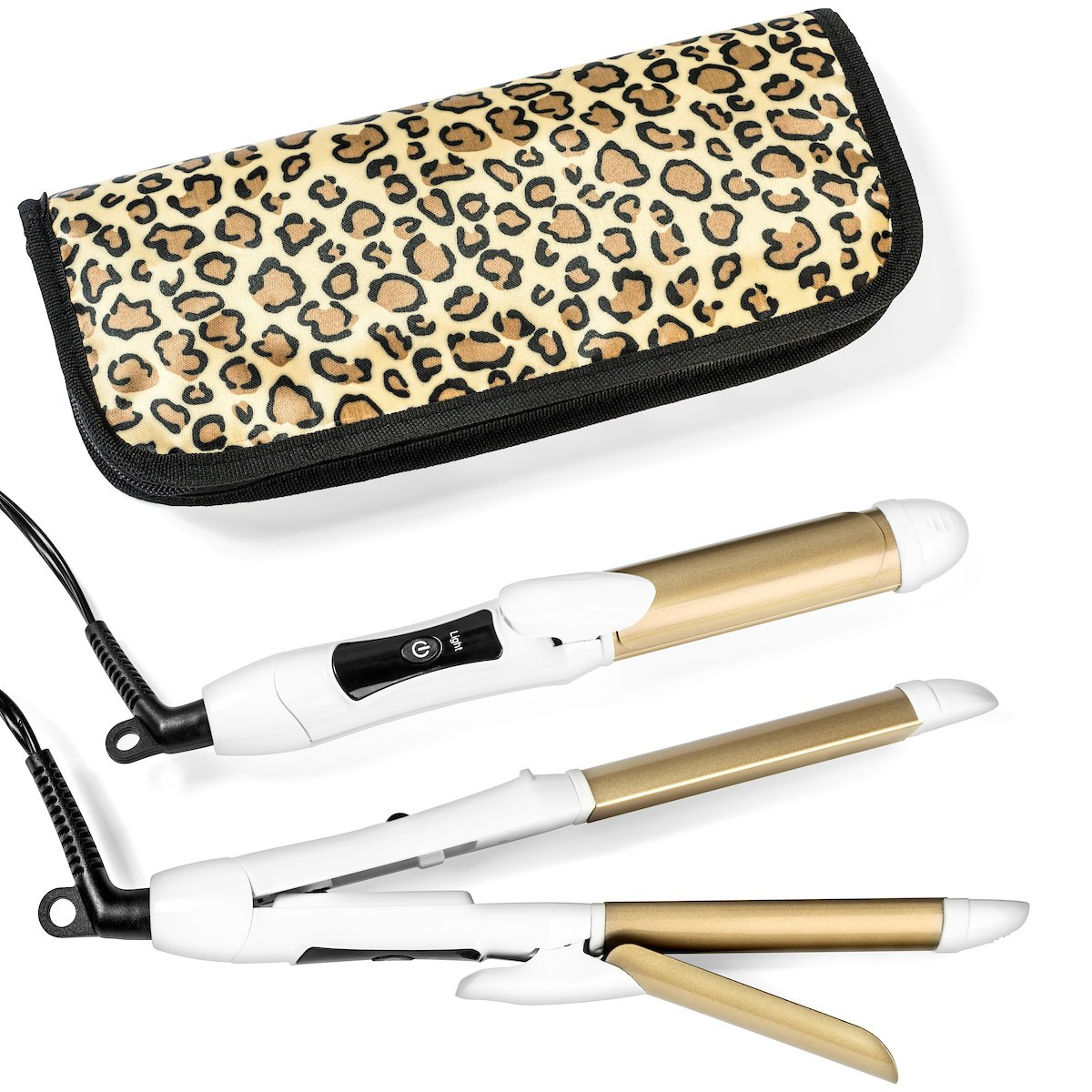 Travel Flat Iron 2-in-1 Mini Hair Straightener Curling Iron